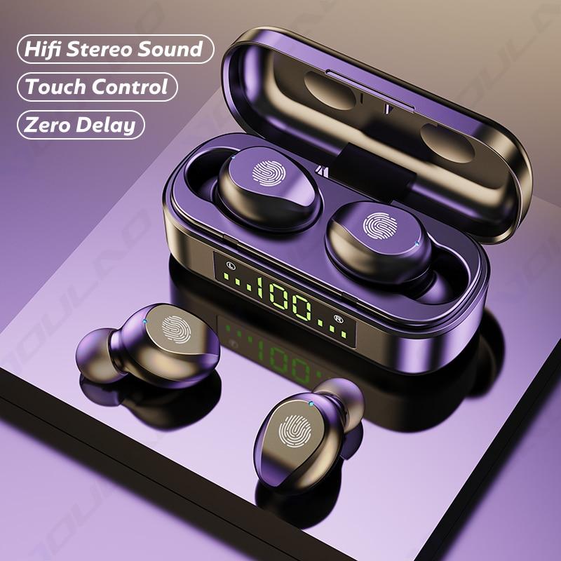 TWS Wireless Headphones Sports Waterproof Earbuds Bluetooth-compatible Earphone With Microphones Tou