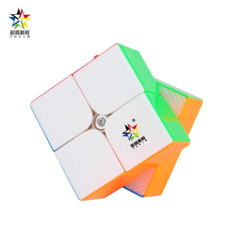 Original yuxin pouco magia 2x2 v2 m magia magnética cubing velocidade profissional cubo magico quebra-cabeça brinquedos para crianças presente