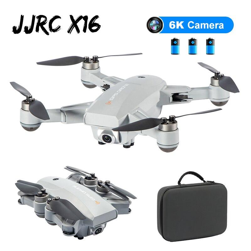 JJRC X16 5G WIFI FPV المزدوج GPS 6K HD كاميرا البصرية تدفق المواقع فرش طوي RC FPV سباق Drone Quadcopter RTF w/حقيبة