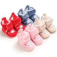 0-18M Newborn Infant First Walker Plush Baby Girls Booties Winter Warm Baby Shoes Cartoon Ankle Boot