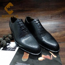 Sipriks Luxury Mens Dress Oxfords Imported Lizard Skin Gents Suit Formal Shoes Italian Goodyear Welt