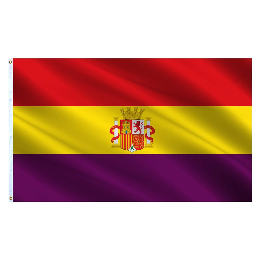 Испанский республиканский флаг 3 Х5 футов полиэстер эспана Республика военный постер Баннер Висячие флаги Испании