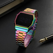 New Digital Watch Multifunctional Square Sports Waterproof Watches Touch Screen Electronic Clock Men