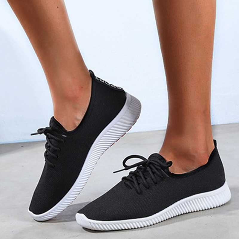 Women Fashion Lightweight Sneakers Outdoor Sports Breathable Mesh Comfort Running Shoes Air Cushion
