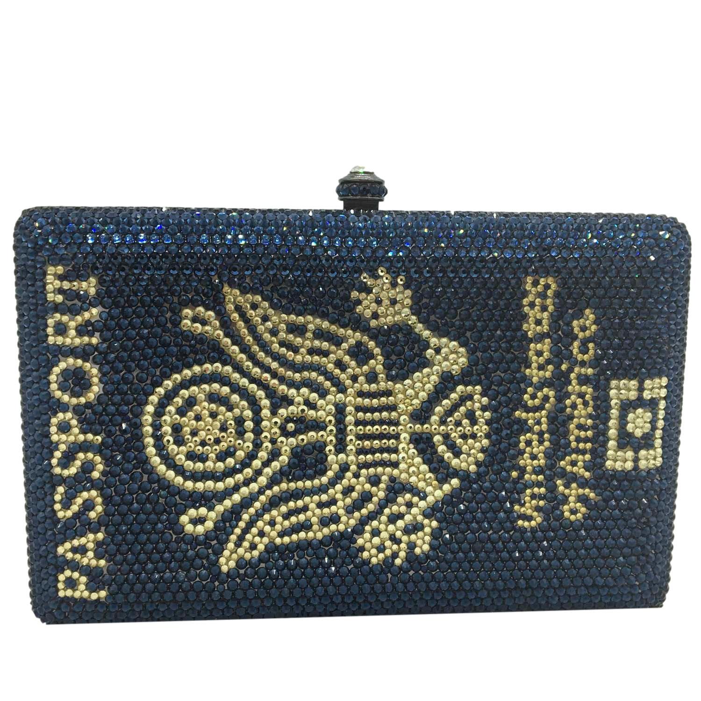 بوتيك دي FGG الجدة أمريكا صندوق جواز سفر مخلب المرأة كريستال مساء حقائب ومحافظ حفلة عشاء حجر الراين حقائب