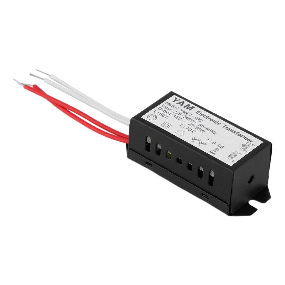1 pces ac 220 v a 12 v proteção contra curto-circuito lâmpada halógena transformador eletrônico fonte de alimentação led motorista durável qualidade quente