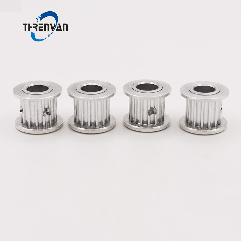 Aluminum Alloy 3M Type 12T 12 Teeth 3mm Pitch Timing Pulleys 4/5mm Inner Bore 11/16mm Belt Width Synchronous Timing Belt Pulley