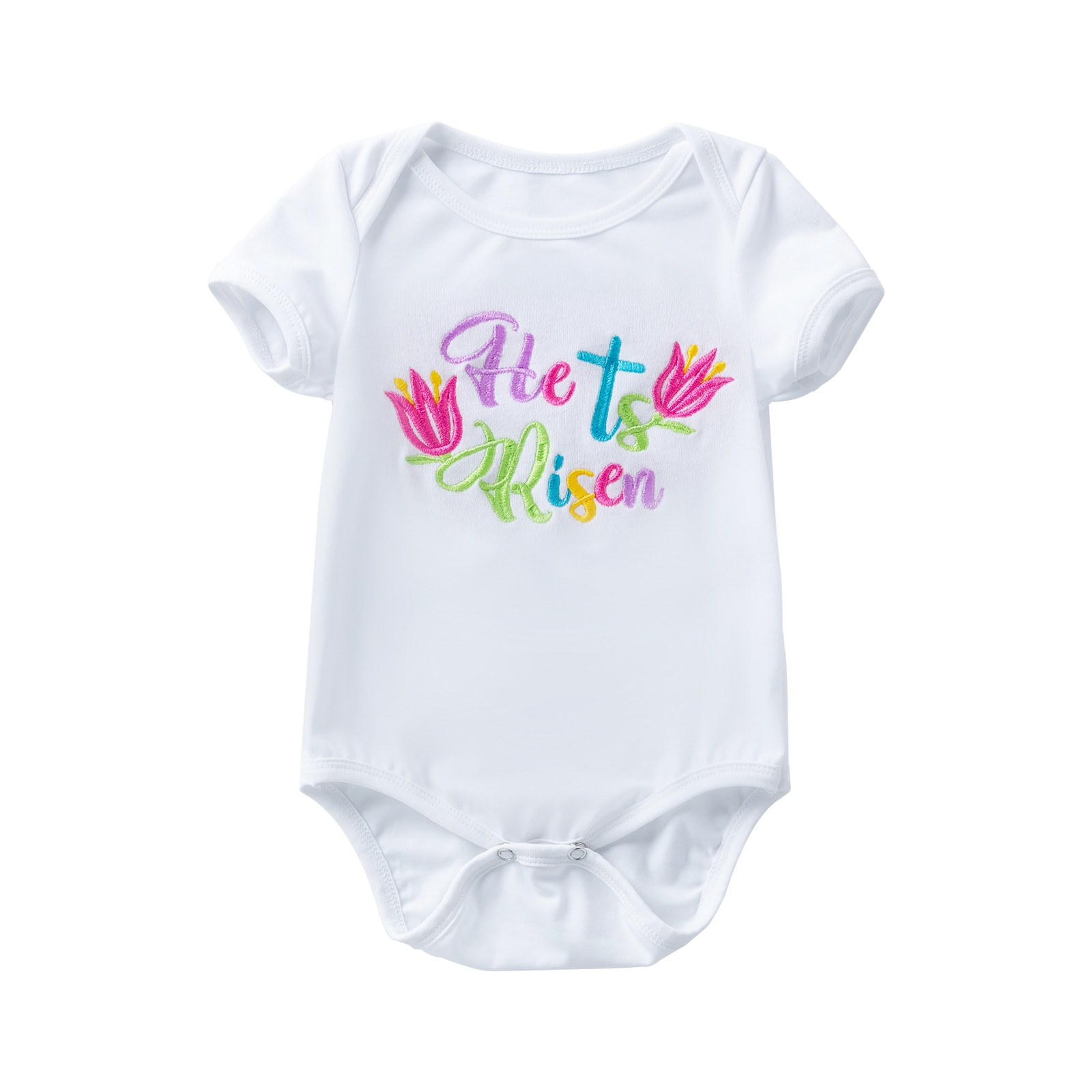 Newborn Baby Girl or Boy Fashion Clothes for 0-2 year Kid Romper Cotton Child Easter Day Party Cross Embroidery&Printing Costume