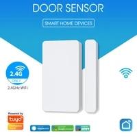Tuya     capteur douverture de porte et fenetre intelligent  wi-fi  alarme anti-cambriolage  systeme davertissement de securite domestique  Compatible avec Alexa et Google Assistant