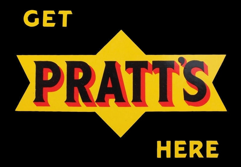 PRATTS-Placa de pared para Taller, póster de aceite de MOTOR, lata de METAL