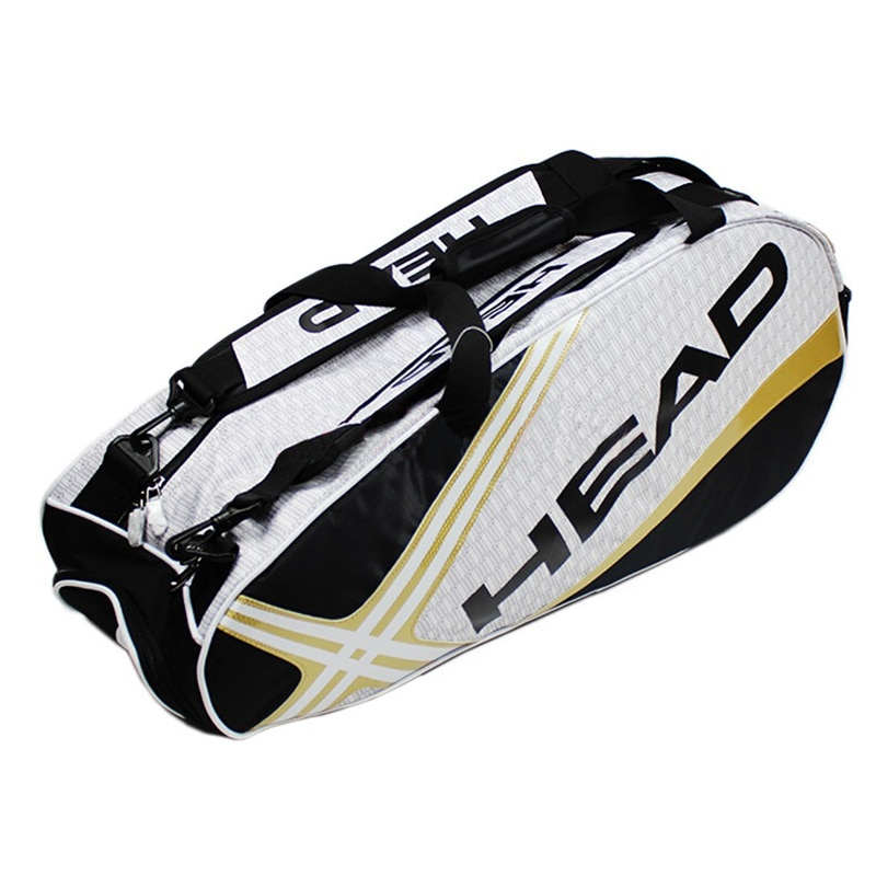 Original Head Tennis Bag 3-6 Tennis Rackets Men Tennis Backpack Djokovic Same Type Tenis Racket Backpack With Shoes Compartment