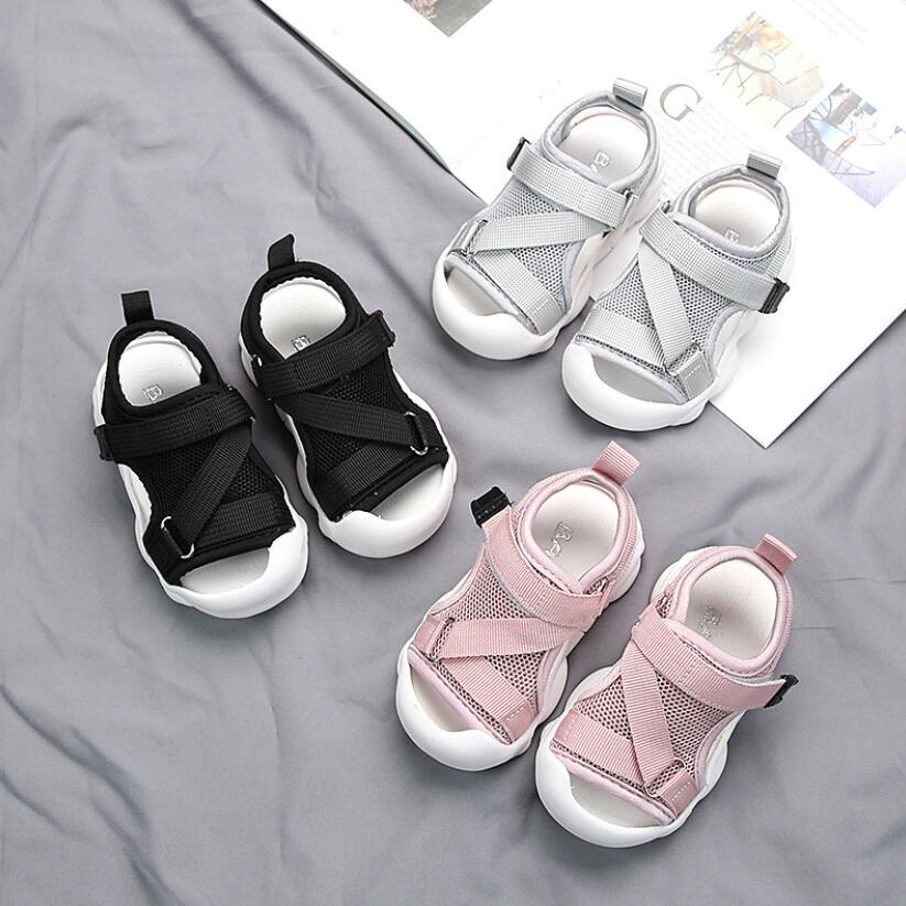 2021 Summer Kids Mesh Sandals Baby Girls Casual Shoes Children Beach Sandals Boys Brand Black Shoes Fashion Sport Sandals