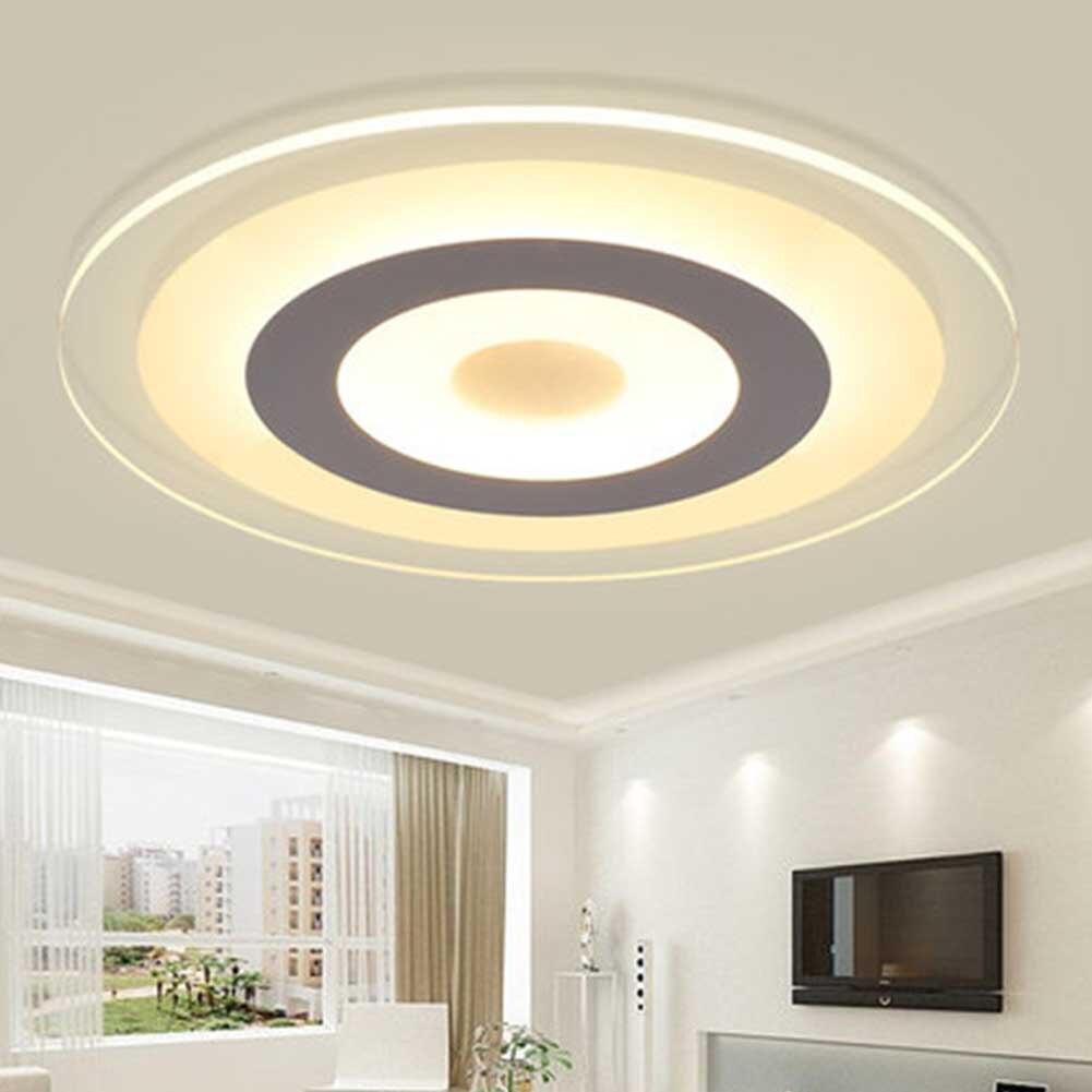Moderna lámpara de atenuación sin escalones WIFI de 200mm para dormitorio, de acrílico, de moda redonda, ultrafina, para sala de estar, lámpara de techo para decoración del hogar, Led nocturno