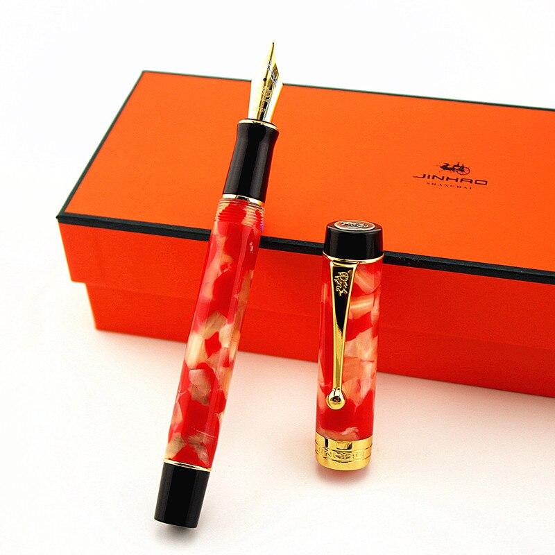 AliExpress - Luxury Jinhao Century 100 Fountain Pen Acrylic Gold Clip 0.7mm Nib Collect Pen Business Office Supplies caneta tinteiro