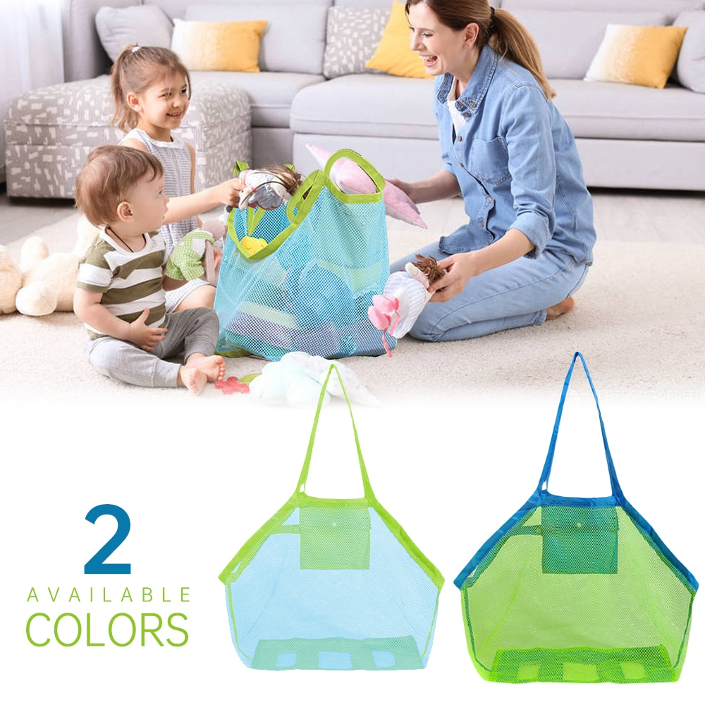 Beach Mesh Bag Children Sand Away Protable Kids Beach Toys Clothes Bags Toy Storage Sundries Organiz