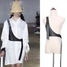 Women Peplum Belt Female Skirt Leather Waist Belts Fashion Ladies Black Bow Wide Harness Dresses Designer Waistband Harness Body
