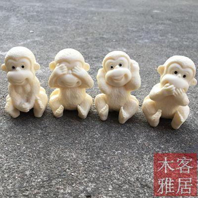 Elfenbein Obst Carving Nette Affe Kreative Handwerk Vereinbarungen