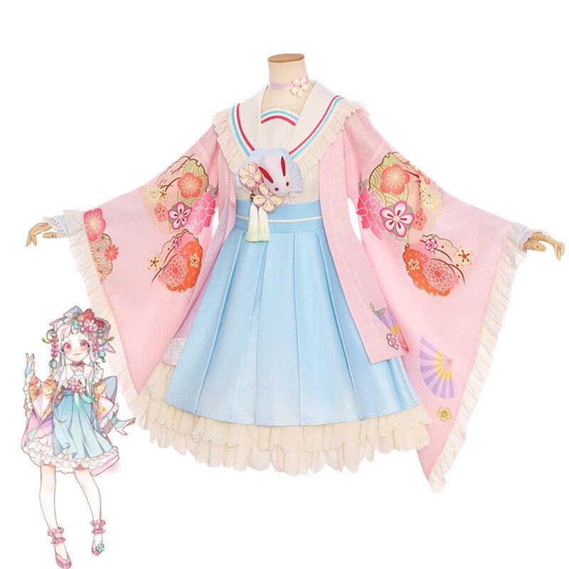 Anime Jibaku Shounen Hanako kun Nene Yashiro Cosplay Costume Wig Women Dress for Halloween Party  Ha