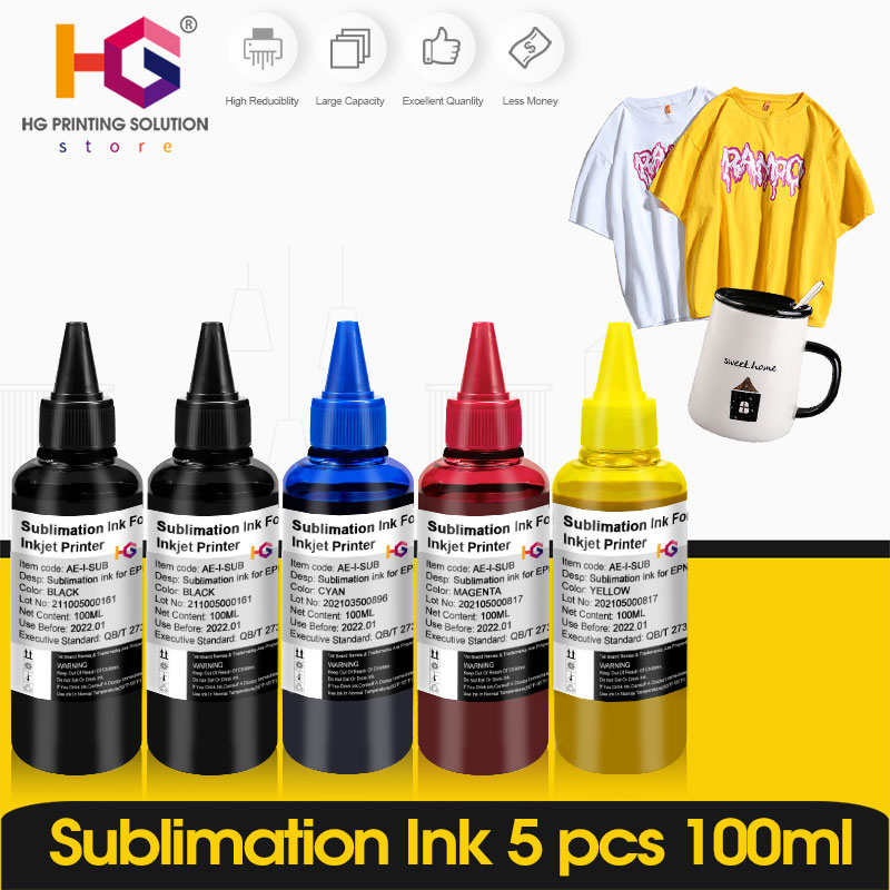 1-6 pack Color x 100ML Universal Sublimation Ink For Epson Desktop Inkjet Ecotank kit Printer BK C M Y High Quality