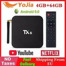 4GB RAM 64GB ROM TX6 Mini Smart TV Box Android 9,0 Allwinner H6 2GB 4K TX6 media-Player Set-Top Box 2,4G/5GHz Dual WiFi BT 4,1