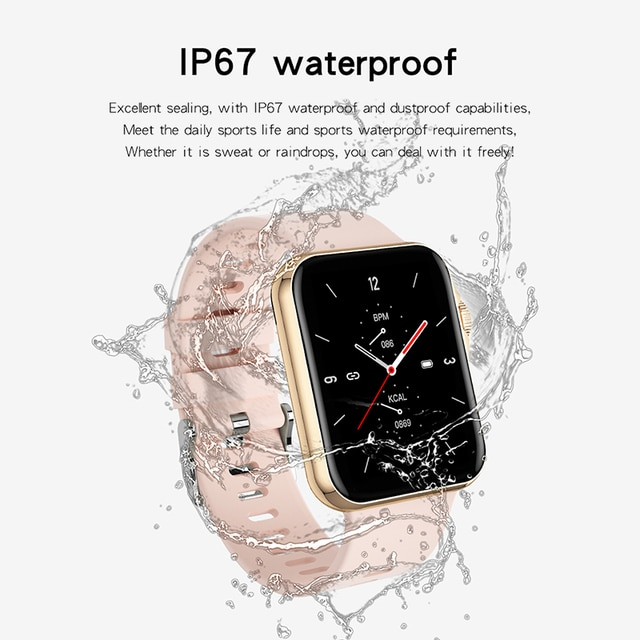 D06 Inch Big Full Touch HD Screen Smart Watch Sport Tracker Support Bluetooth Calling Heart Rate BP ECG With BT Music Playback 4