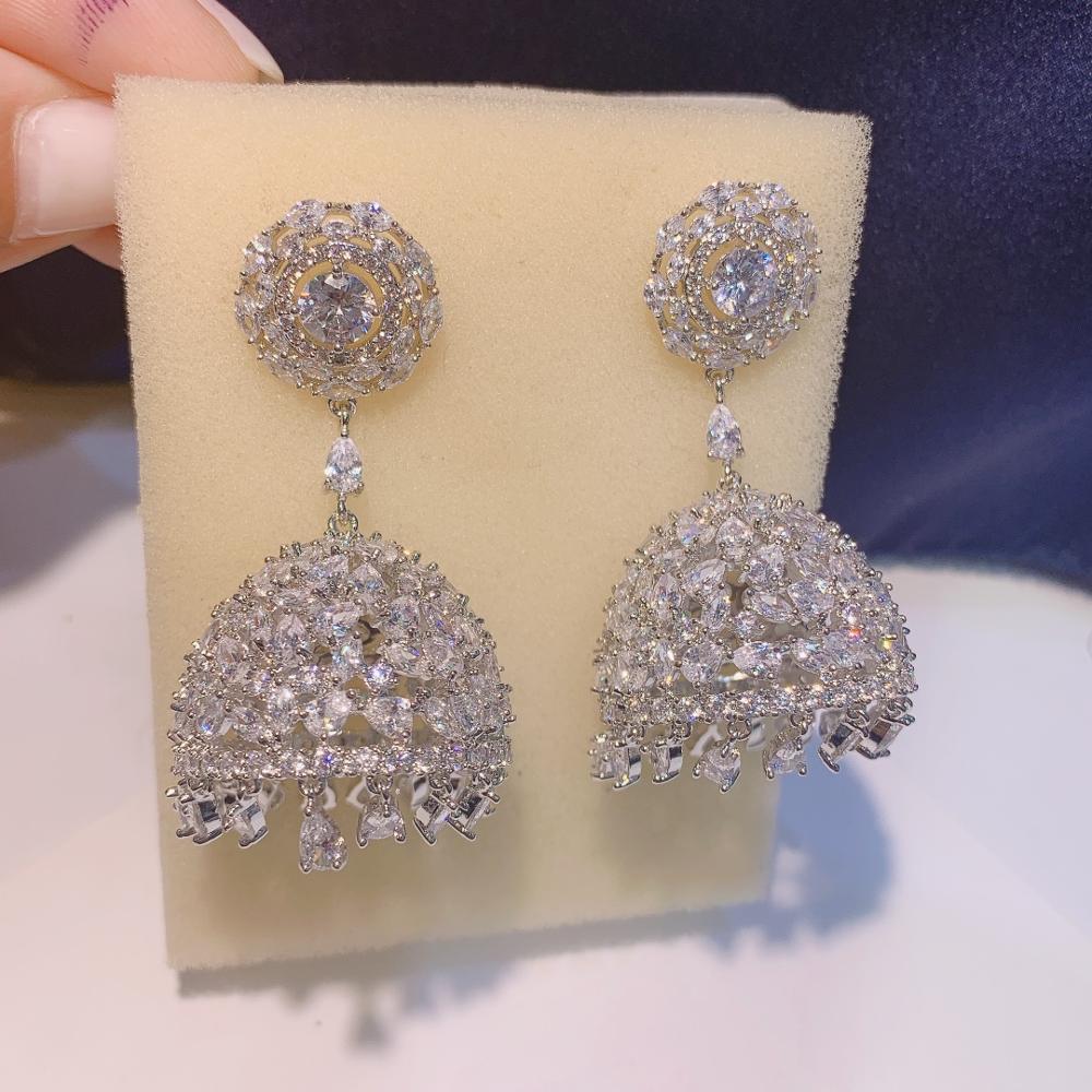 HIBRIDE الكورية خمر Waterdrop أقراط النساء الزفاف القرط الذهب اللون الفضي اللون المشاركة مجوهرات بالجملة E-76