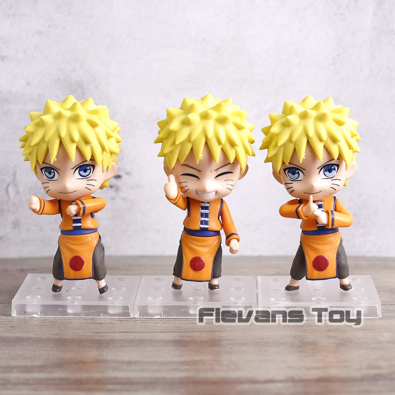 Naruto Shippuden Uzumaki Naruto Sennin Mode / Sakura Haruno Q Version PVC Action Figures Toys  Dolls 3pcs/set