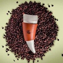 Tasse en corne de chèvre isolée 230ml   1 pièce, bouteilles de boisson à café isolées en acier inoxydable, tasse isolante sous vide, bouteilles deau de voyage