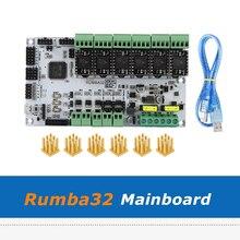 6 pièces TMC5161 Module pilote + Rumba32 Rumba 32 carte de commande Compatible avec Marlin 2.0 32Bit pour accessoires dimprimante 3D