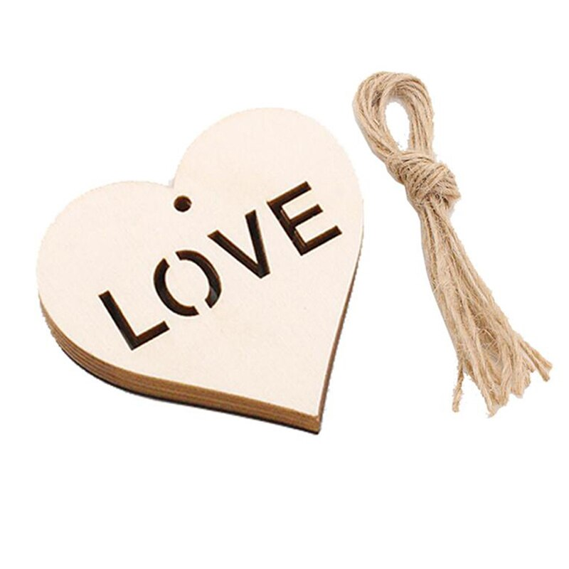 Wooden Handmade Heart Pendant Sawdust Pendant Craft children's Room Gift Holiday Commemorative Significance Decorations
