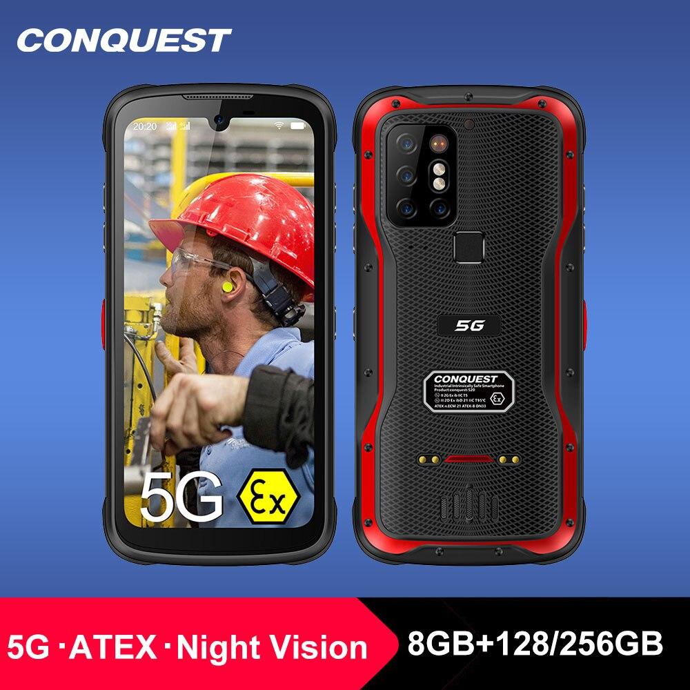 Перейти на Алиэкспресс и купить 2021 CONQUEST S20 ATEX смартфон с функцией ночного видения, водозащитой IP68, камерой 48 МП, 8 ГБ ОЗУ, 256 Гб ПЗУ, смартфоны
