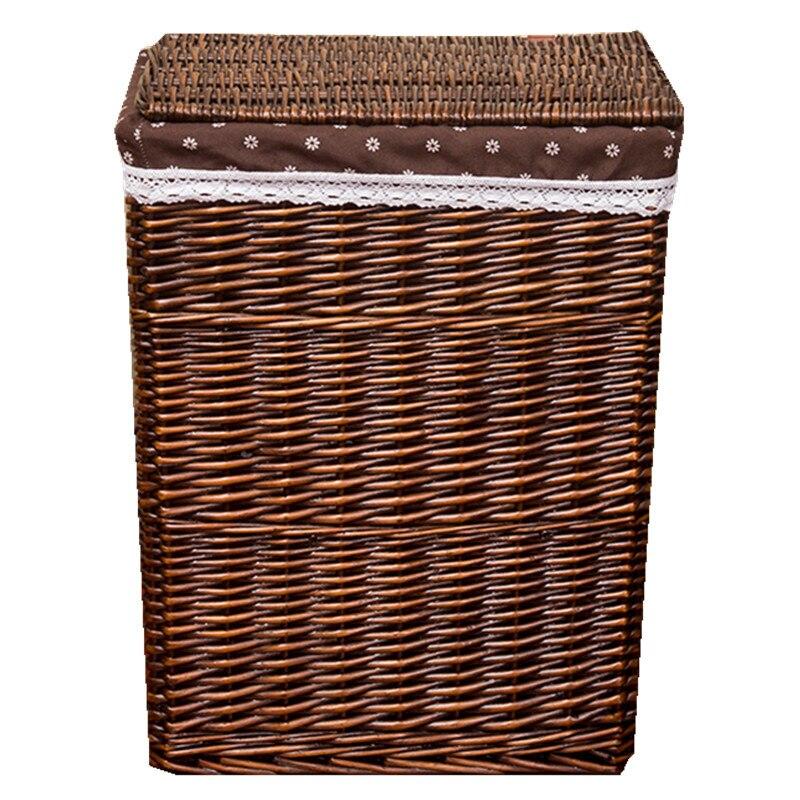 القذرة صندوق تخزين ملابس سلة الروطان يعيق اضافية كبيرة سلة الغسيل يعوق مع غطاء إناء/ قدر متجر صندوق تخزين ملابس سلة