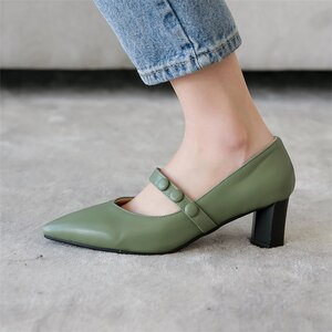 Plus Size 34-48 Spring New Dress Women Pumps Quality Zapatos Sexy Pointed Toe 6cm High Heel Shoes Fashion Shallow Ladies Pumps