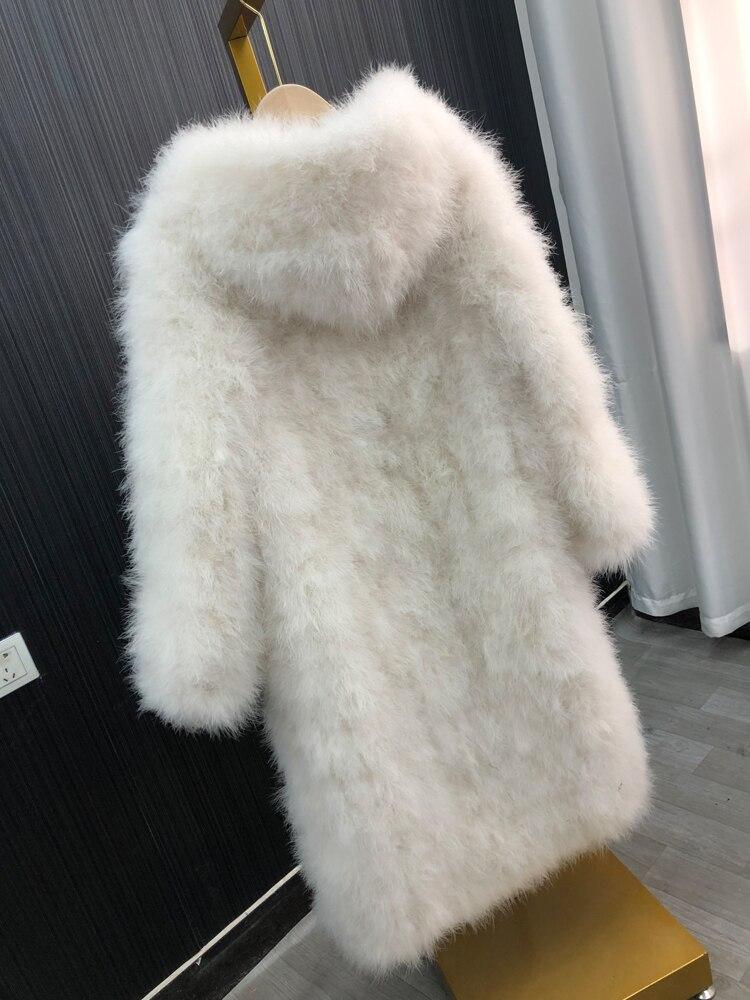 ماربو-جاكيت شتوي من الريش ، ملابس نسائية ، معطف دافئ ، زي احتفالي ، هدية للزوجة ، ريش تركي