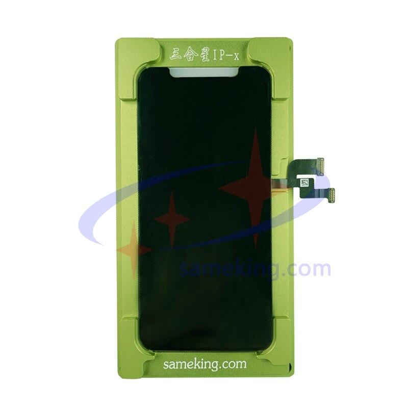 Sameking-قالب تصفيح oled باللون الأخضر لهاتف iphone x/xs/xsmax/11/xr/11pro/11promax