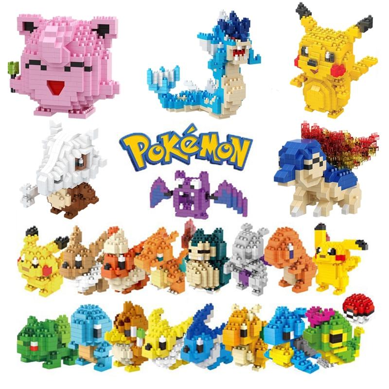 34 новых стиля маленькие строительные блоки Покемон маленькая мультяшная модель животного Пикачу образовательная игра графика Покемон игрушки|Блочные конструкторы| | АлиЭкспресс