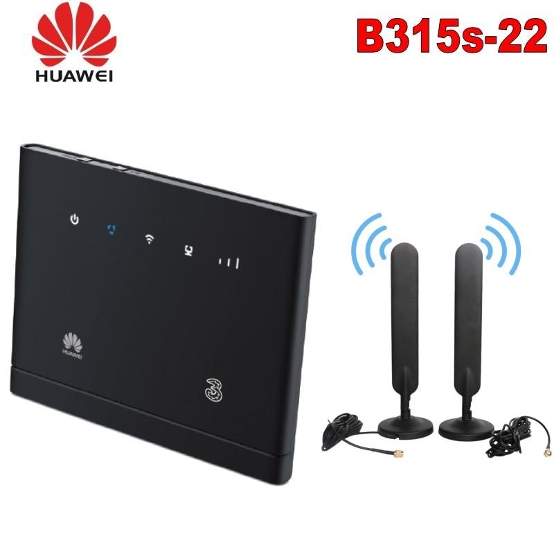 Разблокированный Huawei B315 4G CEP точка доступа WIFI маршрутизатор B315s-22 4G LTE 150 Мбит/с модем + 2 шт. SMA антенна с LAN/WAN PK B593 B310 B525