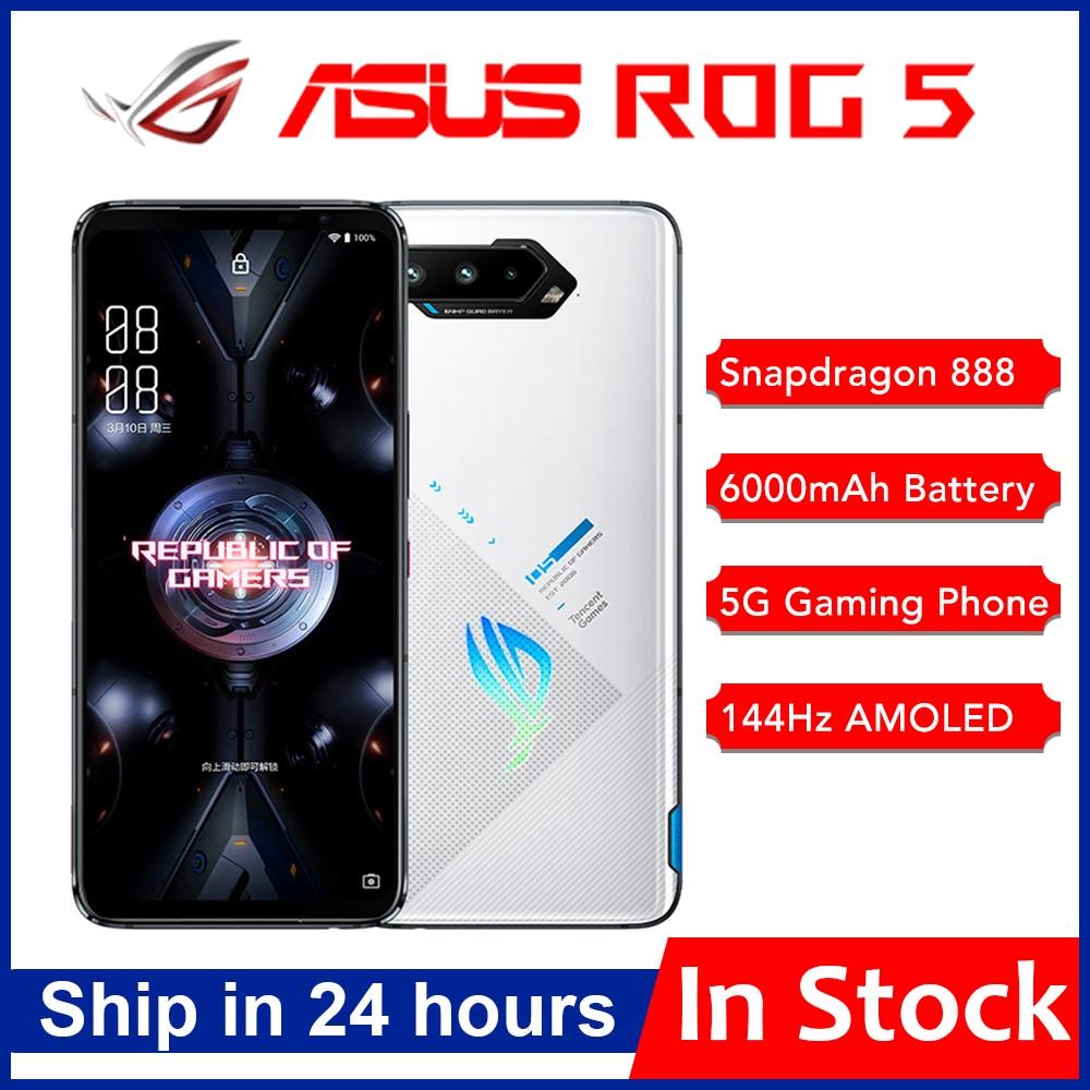 Глобальная прошивка Asus ROG 5 5G игровой телефон 6,78 дюйм 144 Гц активно-матричные осид, Дисплей Snapdragon 888 6000 мАч быстрой зарядки 65 Вт ROG5 мобильный телефо...