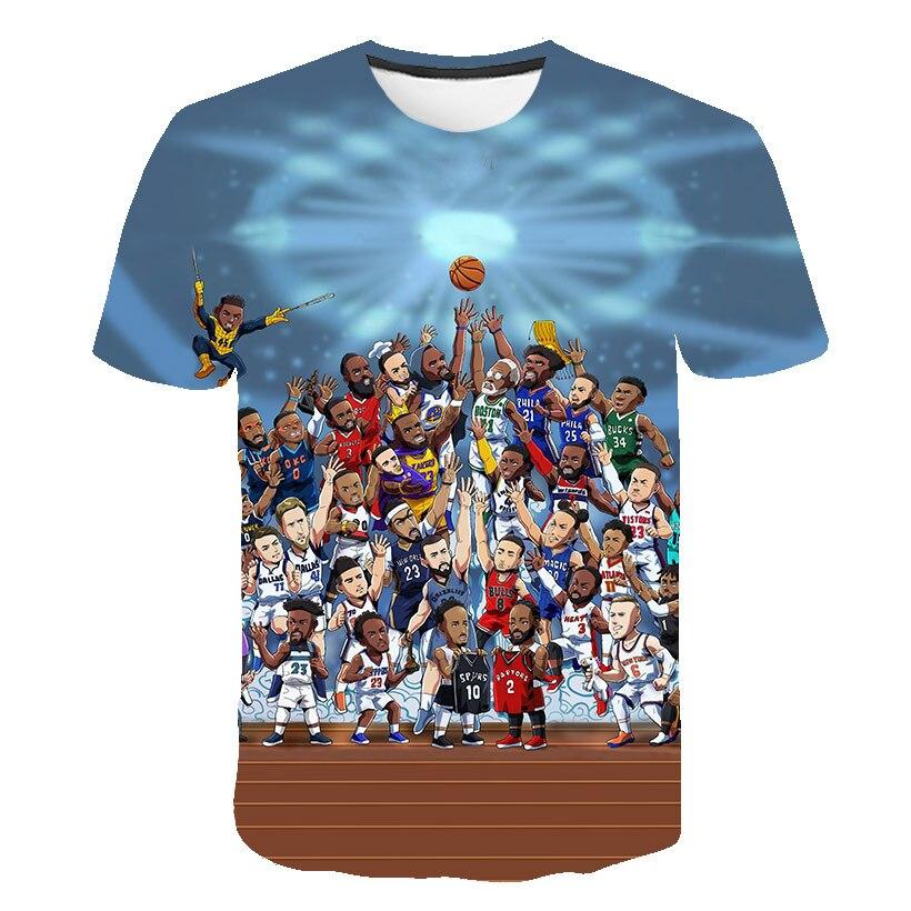 Warm-blooded Basketball 3D Print T Shirt Men Black Tshirt Funny Punk Rock Clothes Mens T-shirt Hip Hop Mens Clothing Streetwear