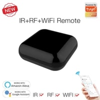 Telecommande WiFi intelligente universelle a infrarouge et commande vocale  fonctionne avec Alexa Google Home Smart Life App