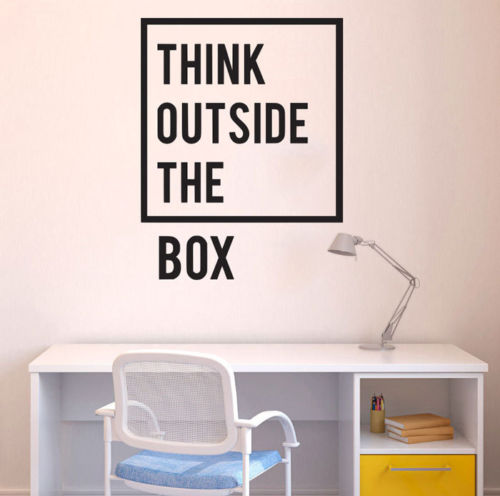 Think-pegatina de pared exterior para habitación de niños, pegatina de pared de...