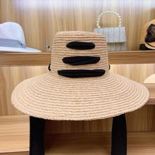 Gros femmes raphia chapeau de paille 4.7