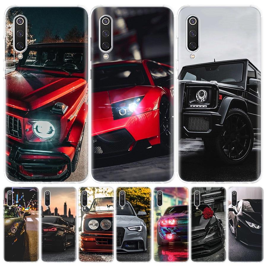 Sports Cars Male Men Phone Case for Xiaomi Redmi Note 9 8 7 8A 7 7A 6A S2 K20 K30 8T 9S MI 9 8 CC9 F1 Pro Fashion Cover Capa