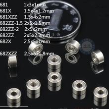 10pcs 681 681X 681XZZ 682ZZ 682X 682XZZ Mini Bearing Ball Bearing For Toy Jewelry Watch Ring Miniatu