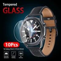 10 шт. 9H Премиум Закаленное стекло для Samsung Galaxy Watch 3 41 мм 45 мм Смарт-часы защитная пленка аксессуары