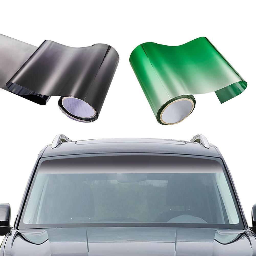 150*20CM ventana del coche visera del sol de la tira del tinte de la película frontal del parabrisas UV sombra DIY etiqueta del Banner del Sol- a prueba de Color-rápido
