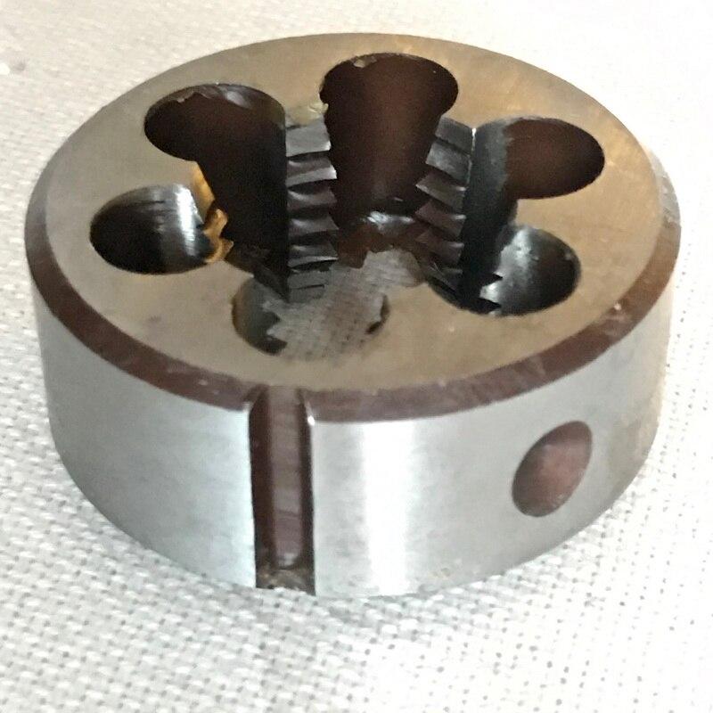 Troquel manual de paso delgado métrico, M19 * 1,0-2,5mm, rosca redonda para procesamiento de acero, cobre de aluminio, pieza de trabajo, envío gratis, 1 ud.