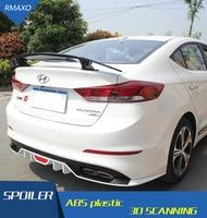 For Elantra Spoiler 2016-2019 For Hyundai Elantra Spoiler TF High Quality ABS Material Car Rear Wing Primer Color Rear Spoiler