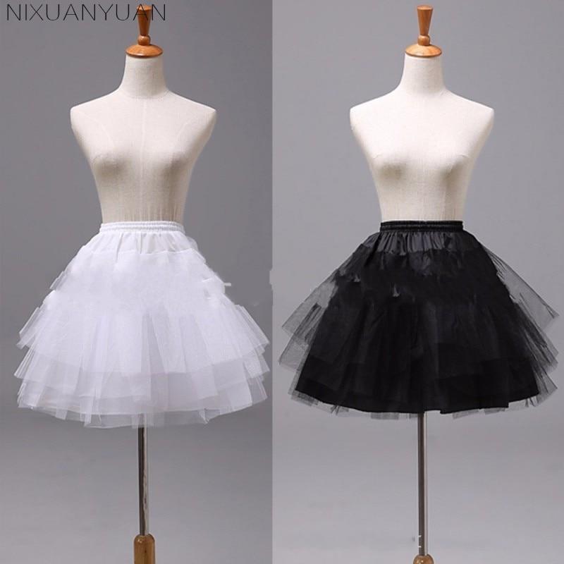 Wanita rok pendek putih atau hitam Seluar 3 lapisan bawah untuk gaun - Aksesori perkahwinan - Foto 3
