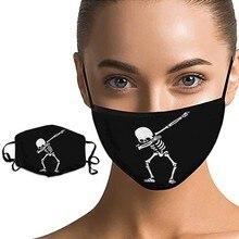 Squelette homme motif masque respirant bouche couverture réutilisable visage masque protecteur bouche casquettes lavable bouche masque mascarillas